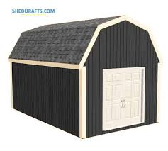 12x20 gambrel barn shed building plans blueprints 01 building section