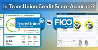 Show Me A Credit Score Chart Is Transunion Credit Score Accurate Vantagescore Vs Fico