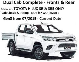 black duck seat covers sr sr5 dual cab complete suitable for toyota hilux sr sr5 not workmate from 07 2016 onwards