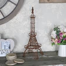 Eiffel Tower Home Decor Accessories Custom Rustic Brown Eiffel Tower Ornament Decoration Gift Accessory Home