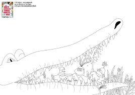 Kleurplaat Krokodil Bij Het Grote Dierentuin Tandenborstelboek