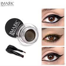 imagic gel eyeliner not blooming makeup palette matte waterproof lasting eye liner gel cream with brush maa elf cosmetics from integrity178