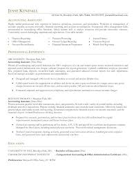 assistant accounting assistant resume template of accounting assistant resume full size