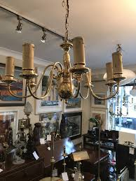 brass 8 branch arm chandelier flemish lamp