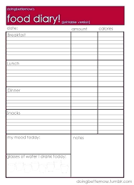 Diary Page Template Food Log Template Word Diary Weekly Post Jtmartin Co