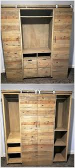 Cupboards Made From Pallets Pallet Closet Wardrobe Made From Pallets Pallet Closet