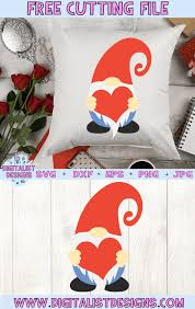 Looking for free svg files? Free Valentine S Gnome Svg Digitalistdesigns