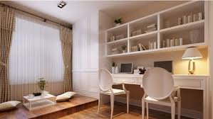 traditional korean furniture. Traditional Korean Interior Design White Stained Wooden Frame Brown Varnished Shelf Workspace Gray L Shaped Fabric Comfy Sofa Concept Furniture