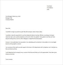 Resignation Letter Template Word 22 Resignation Letter Examples Pdf