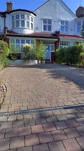 Block Paving Front Garden Driveway London Topiary and Granite paving  driveway. Contact anewgarden for more information