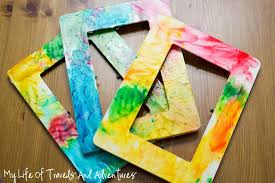 painted wood picture frames. Plain Wood Frames Are Painted With Colorful Finger Paint For A Gift Or Art Project Even The Youngest Of Kids Can Do. My Life Travels And Adventures Picture