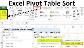 Fractions Chart Smallest To Largest Pivot Table Sort Examples How To Sort Data Values In