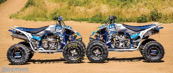 and both are on duncan built yamaha yfz450rs both of their yamahas are virtually the same minus tire choices so to simplify the situation