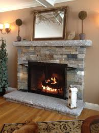 Fireplace Design Decorations Comfortable Living Room With Stone Veneer