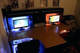 computer desk with built in computer custom built computer desks intended for elegant household custom gaming computer desk with built