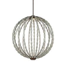 driftwood ball pendant light 2 grey weathered iron