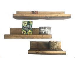rustic floating farmhouse lip shelves