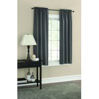 Gray and beige curtains Blackout Curtains Product Image Mainstays Room Darkening Solid Woven Curtain Panel Pair Walmart Gray Curtains Walmartcom