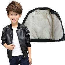 good quality teenager leather jacket boys autumn winter casual black solid coat children outerwear kids girls coats leather jackets jacket for kid winter