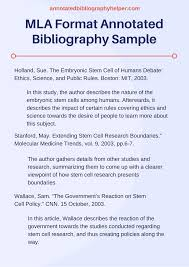 How To Write An Annotated Ibliography Example Apa Sample Mla Writing