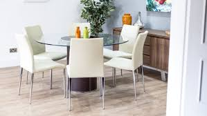 outstanding round dining table with 6 chairs 24 glass for 07