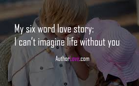 Love Story Quotes Awesome My Six Word Love Story Love Quotes Author Love