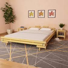 vidaxl bamboo bed 160 200 cm natural