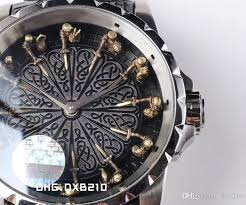 excalibur table ronde 45 rddbex0495 knights of the round table miyota miyota automatic machine core mens watch black leather strap rd watch cool watches