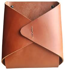 Brown Leather Magazine Holder New Tasche Wall Pocket Modern Magazine Racks By Alice Tacheny Design