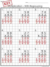 Multiplication Worksheets With Multi Digit Multiplication On Graph Paper