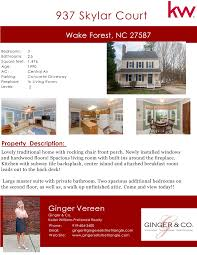 just listed 937 skylar court wake forest