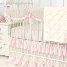 amazing blake s vintage pink linen lace perless crib bedding lace crib bedding