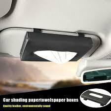 <b>Car Sun Visor</b> Tissue Box Holder PU Leather Paper Napkin Cover ...