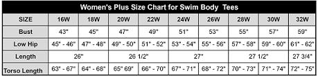 Swim Body Tee Womens Plus Size