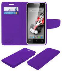 Xolo Q500 Flip Cover by ACM - Purple ...