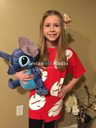 k wearing a diy lilo stitch costume