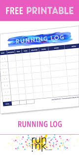 If Youre Into Marathon Training This Free Printable Running Log