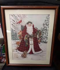 Framed Nadine Harper Old World Santa Claus FATHER CHRISTMAS PRINT winter  scene   Christmas prints, Father christmas, Winter scenes