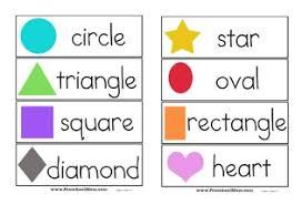 Shapes Chart For Nursery Shape Preschool Printables Preschool Mom