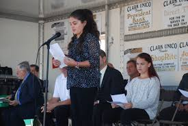 columbus remembered italian americans honored at clark unico valley road school essay winner gina galiszewski credits susan roselli bonnell