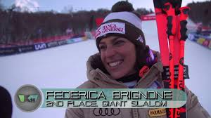 World Cup GS 2nd Place Federica Brignone Interview