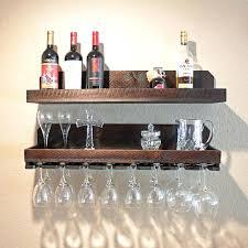 wine glass rack and shelf rustic wood wine glass holder shelf wine glass rack wine glass