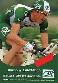 CARTE CYCLISME LE coureur cycliste Anthony LANGELLA Crédit Agricole Pub dos  - EUR 4,00   PicClick FR