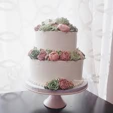 7 2 Tier Buttercream Wedding Cakes Photo 2 Tier Wedding Cake With