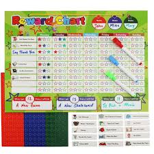 Reward Chart For 3 Yr Old Magnetic Reward Chart Set Includes 20 Magnetic Chores 240 Magnetic Stars And 3 Color Dry Erase Markers Behavior Chart Board Magnetic Backing And