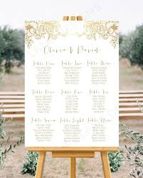 We Design Edit Printable Wedding Seating Chart