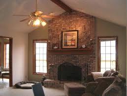 red brick fireplace built fireplaces mantel decorating ideas mantels53 mantels