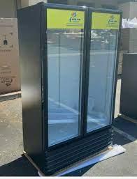 new two glass door refrigerator cooler