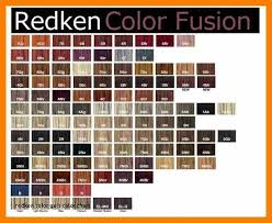 Redken Hair Color Chart Redken Cover Fusion Chart New Redken Color Gels Color Chart