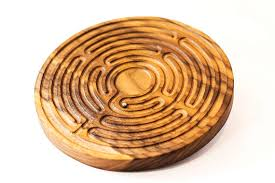 Wooden Maze Game With Ball Bearing Wooden labyrinth finger labyrinth wooden game labyrinth 64